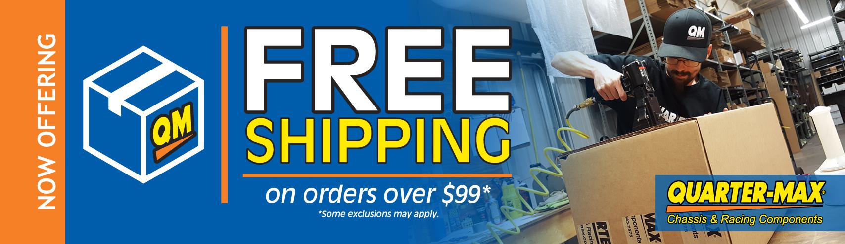 Get Free Shipping at Quarter-Max!